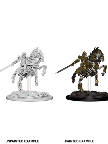 WZK73359 Pathfinder Deep Cuts Unpainted Miniatures: Skeleton Knight on Horse