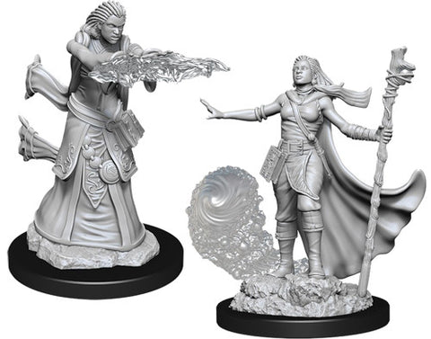 WZK90012: Female Human Wizard: D&D Nolzur's Marvelous Unpainted Miniatures (W11)