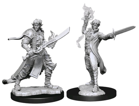 WZK90043: Male Elf Magus (Magic User): Pathfinder Battles Deep Cuts Unpainted Miniatures (W11)