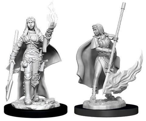 WZK90044: Female Human Oracle Magic Use: Pathfinder Battles Deep Cuts Unpainted Miniatures (W11)