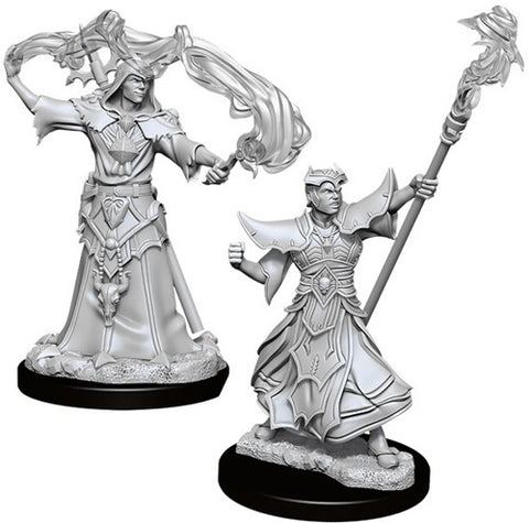WZK90052: Male Human Sorcerer: Pathfinder Battles Deep Cuts Unpainted Miniatures (W11)