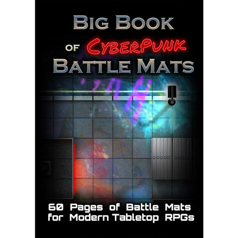 Big Book of Cyberpunk Battle Mats (pre-order expected April 2020)
