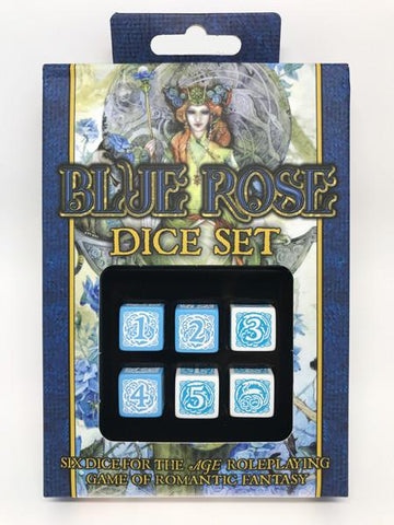 Blue Rose Dice Set (expected in stock on 24th July)