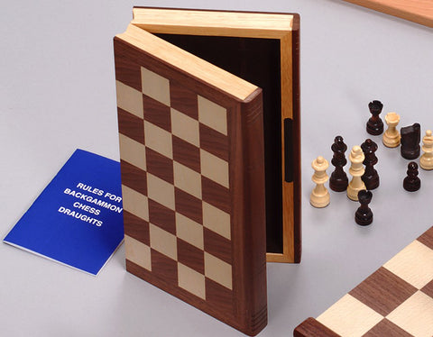 "Wooden ""Bookcase"" Chess"