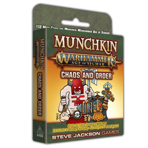 Munchkin Warhammer Age of Sigmar: Chaos and Order - reduced