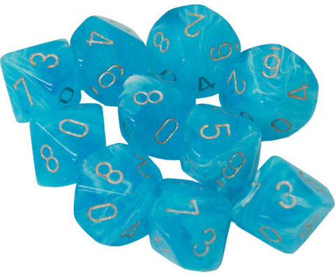 CHX27366 Ten d10 Set: Luminary Sky w/silver