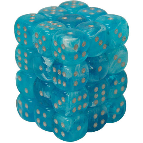 CHX27966 12mm d6 Dice Block: Luminary Sky w/silver