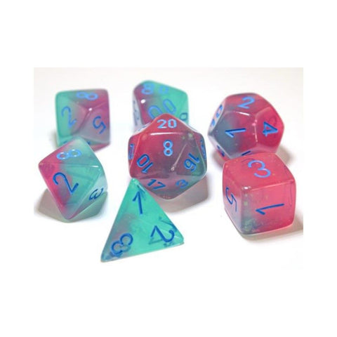 CHX30023 Gemini Polyhedral Gel Green-Pink/blue 7-Die Set - Lab Dice (expected in stock on 24th February)