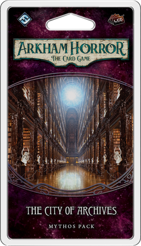 Arkham Horror: The Card Game: City of Archives Mythos Pack - Leisure Games