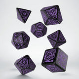 Horror on the Orient Express Black & purple Dice Set (7)