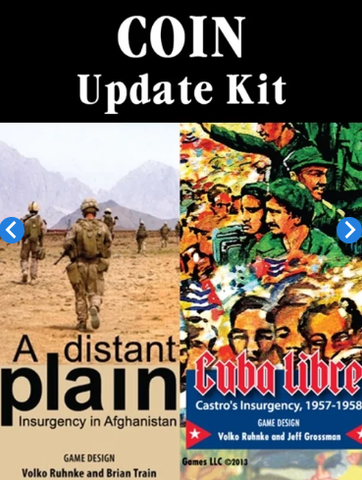 COIN Series Update Kit for Cuba Libre and Distant Plain 1st and 2nd Printings - Leisure Games
