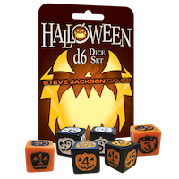 Halloween D6 Dice Set (expected in stock on 27th August)