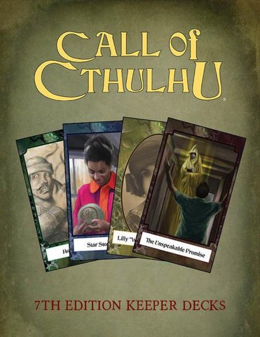Call of Cthulhu 7th Edition: Keeper Decks  + complimentary PDF - Leisure Games
