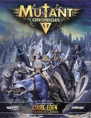 Mutant Chronicles RPG: Dark Eden Campaign Book + complimentary PDF (expected in stock on 22nd May)
