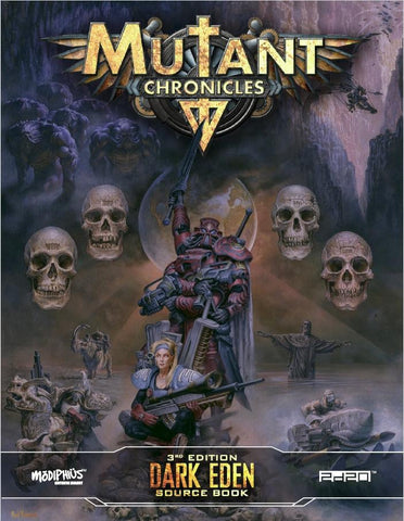 Mutant Chronicles RPG: Dark Eden Sourcebook + complimentary PDF (expected in stock on 22nd May)