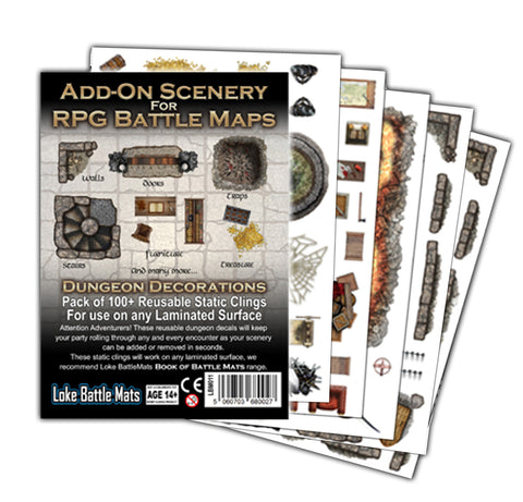 Scenery Add-Ons for RPG Battle Mats (Pack of 5 A4 sheets)
