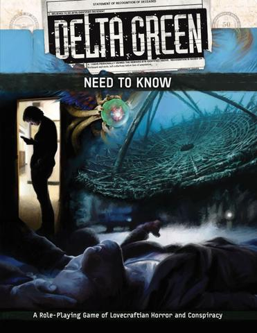 Delta Green: Need to Know (screen & booklet) + complimentary PDF