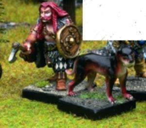 15501a Thorwalian Warrior Chief with Hound - Leisure Games