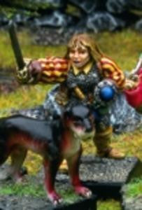 15501f Adventurer with Sword & Buckler (Hound not included!) - Leisure Games