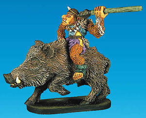 18004 Goblin Warrior mounted on Wild Boar - Leisure Games