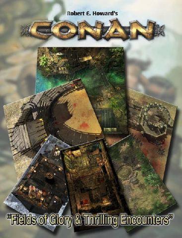 Conan: Fields of Glory & Thrilling Encounters Geomorphic Tiles + complimentary PDF