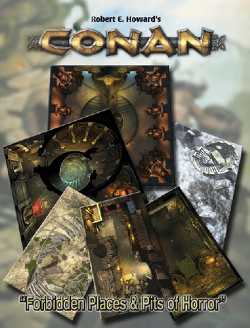 Conan: Forbidden Places & Pits of Horror Geomorphic Tiles + complimentary PDF