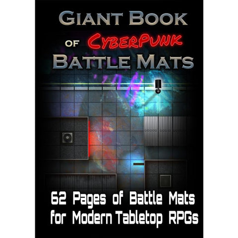 Giant Book of Cyberpunk Battle Mats (expected in stock on 7th July)
