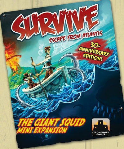 Survive: Escape from Atlantis! The Giant Squid Mini Expansion - reduced