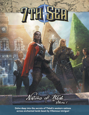 7th Sea: Nations of Theah Vol.1 + complimentary PDF - Leisure Games