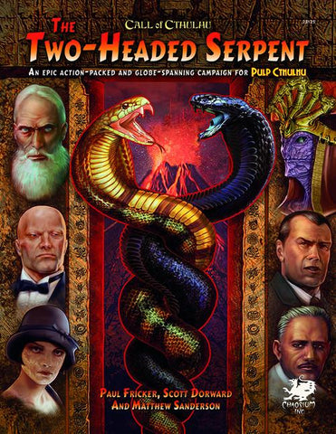 Call of Cthulhu 7th Edition: Pulp Cthulhu: Two Headed Serpent  + complimentary PDF - Leisure Games