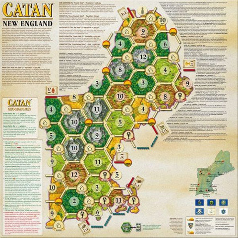 Catan Geographies: New England - Leisure Games