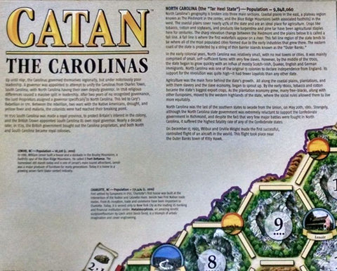 Catan Geographies: The Carolinas - Leisure Games