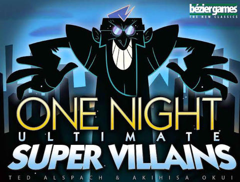 One Night Ultimate Super Villains (expected in stock on 9th April)
