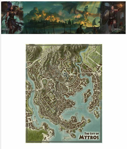Odyssey of the Dragonlords (5e): Deluxe Poster Map Pack & GM Screen Bundle + complimentary PDF