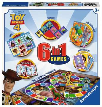 Toy Story 4, 6 in 1 Games Box