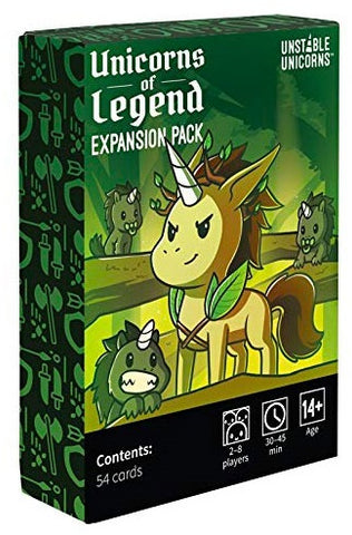 Unstable Unicorns: Unicorns of Legend Expansion Pack (expected in stock on 18th December)