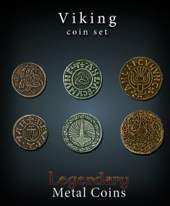 Legendary Metal Coins Set: Viking