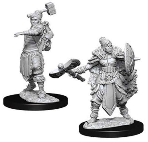 WZK73703: Female Half-Orc Barbarian: D&D Nolzur's Marvelous Unpainted Miniatures (W9)