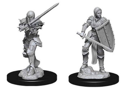 WZK73705: Female Human Fighter: D&D Nolzur's Marvelous Unpainted Miniatures (W9)