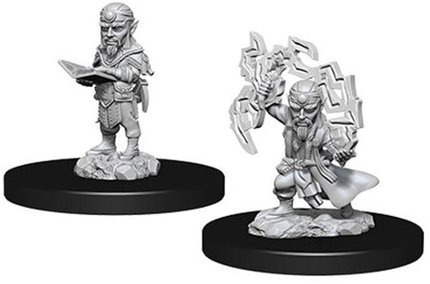 WZK73722: Male Gnome Sorcerer: Pathfinder Deep Cuts Unpainted Miniatures (W9)