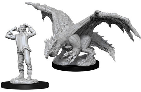 WZK90029: Green Dragon Wyrmling & Afflicted Elf: D&D Nolzur's Marvelous Unpainted Miniatures (W11)