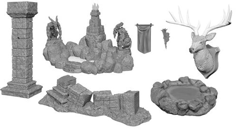 WZK90045: Pools & Pillars: WizKids Deep Cuts Unpainted Miniatures (W11)