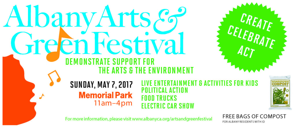 Albany Arts & Green Festival - Sunday May 7th