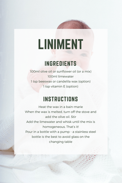 liniment recipe baby diaper change lotion