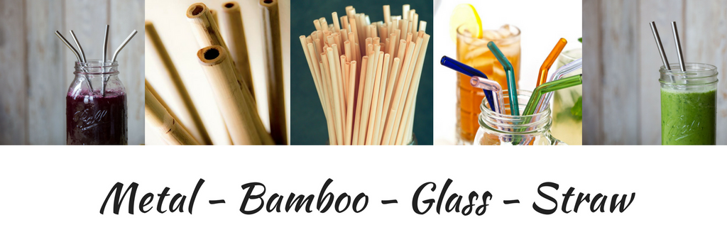 reusable metal bamboo glass straws