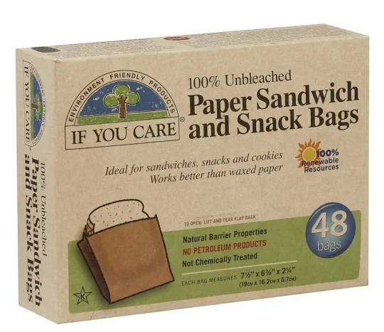 compostable sandwich snack paper bag
