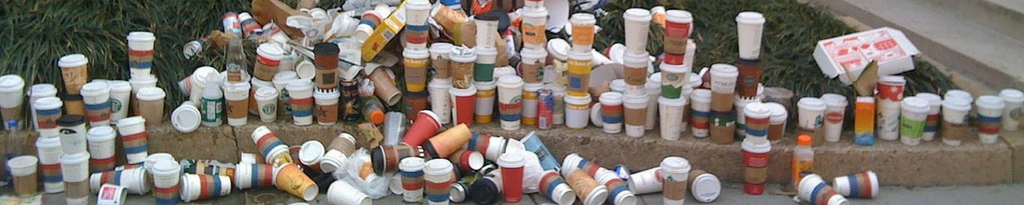 disposable coffee cups pollution