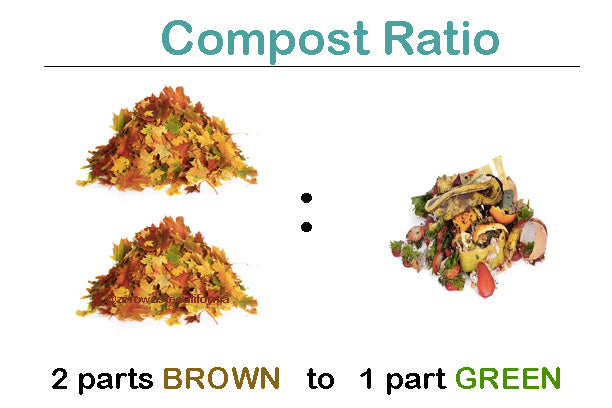 compost ratio browns and greens