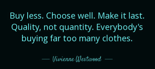 vivienne westwood buy less choose well
