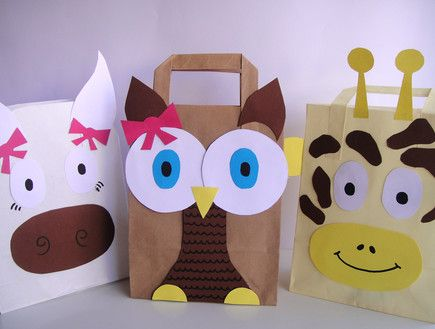 kids birthday DIY goodie bag paper